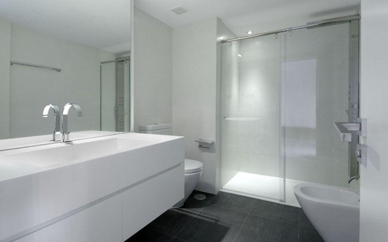 Белая ванная комната, фото