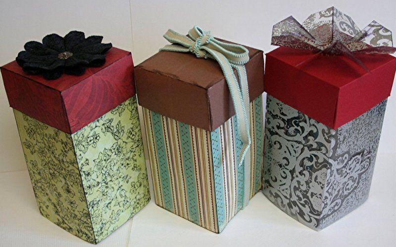 Подарочные коробки, обклеенные своими руками