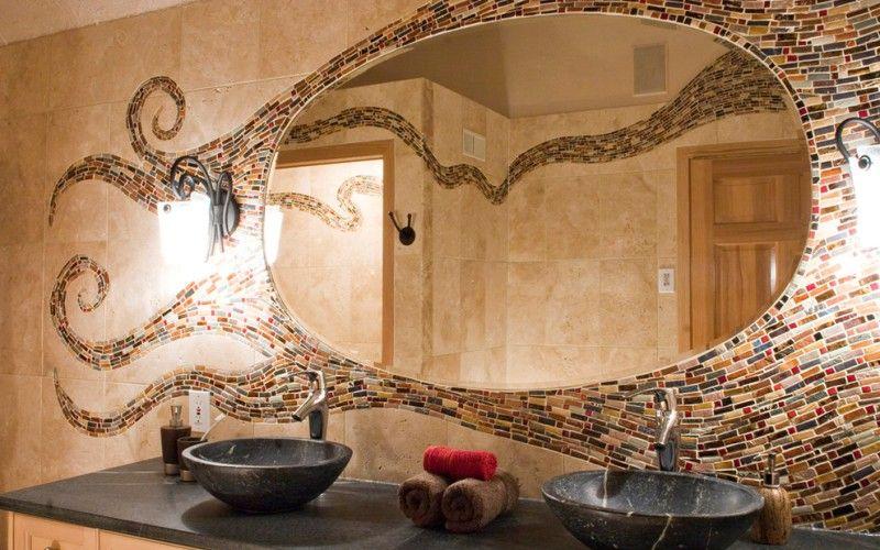 Оформление зеркала мозаикой