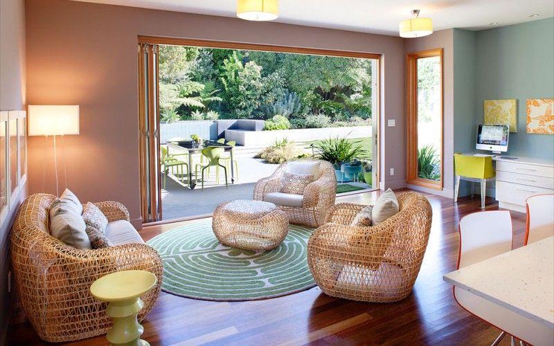 Легкая и воздушная мебель из ротанга в интерьере