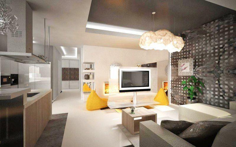 Кухня-гостиная в стиле конструктивизм
