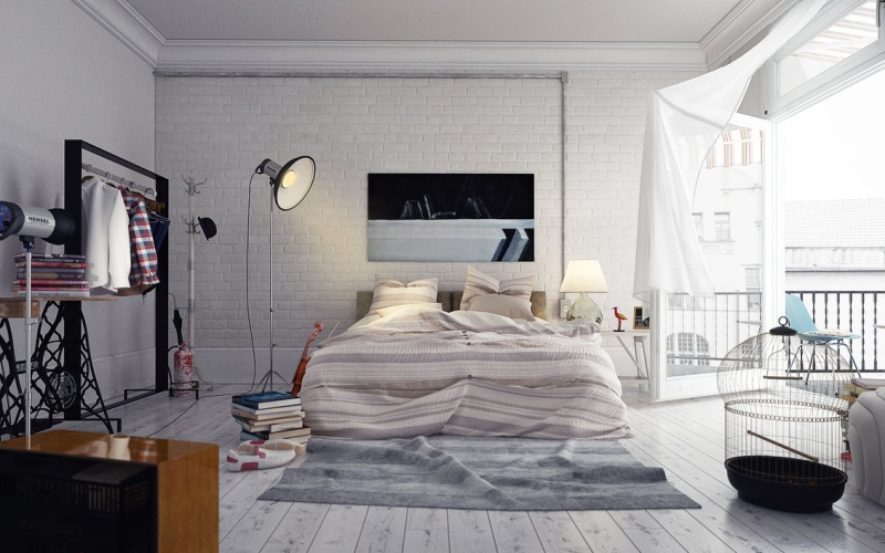 Спальня в стиле лофт - Мебель