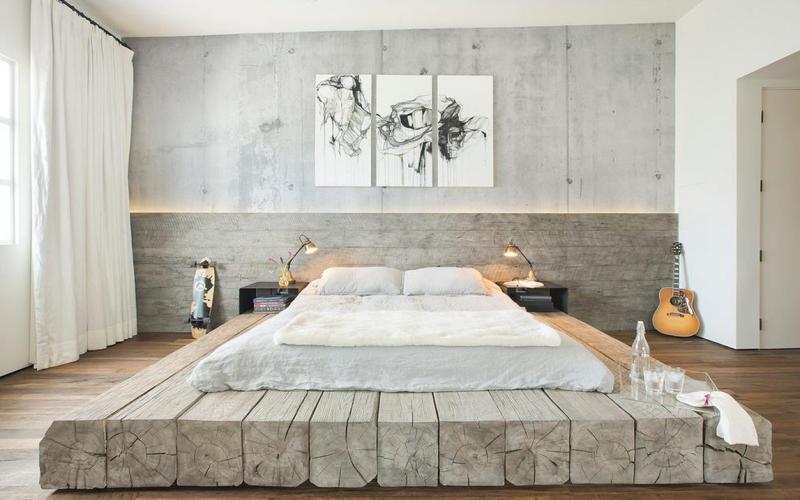 Спальня в стиле лофт - Декор