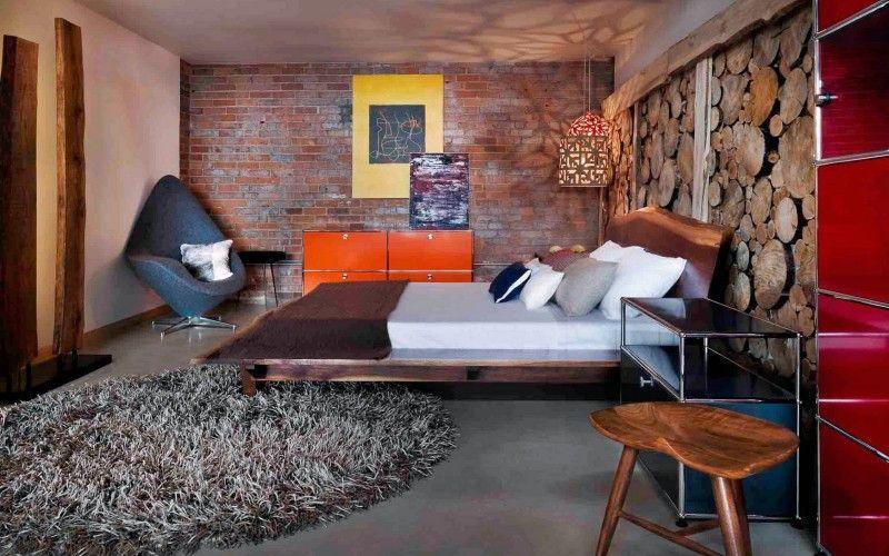 Спальня в стиле лофт - 30 интерьеров