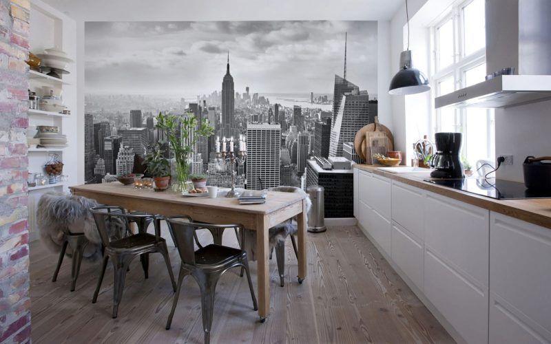 Фотообои для кухни: фото интерьеров, как выбрать