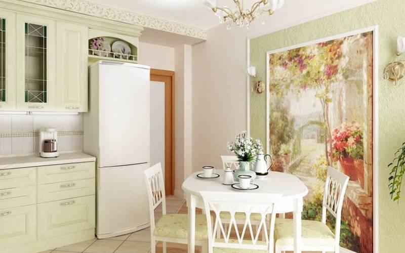Фотообои на кухне, фото интерьеров