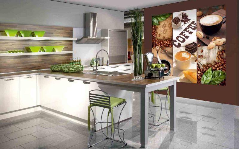 Фотообои-постер на кухне