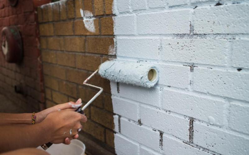 Как и чем покрасить кирпичную стену