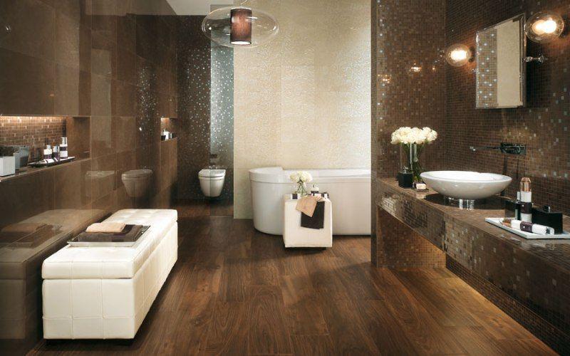 Виниловые плитки на полу в ванной