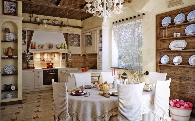 Кантри-кухня - это теплая домашняя атмосфера