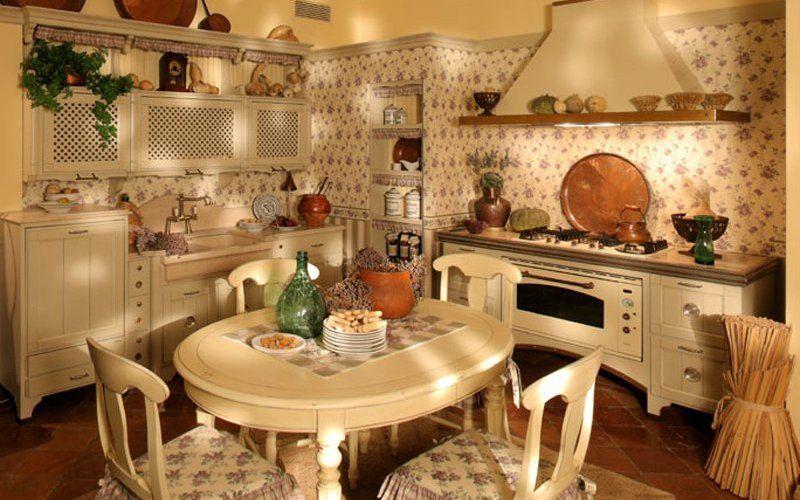 Декор на кухне в стиле кантри