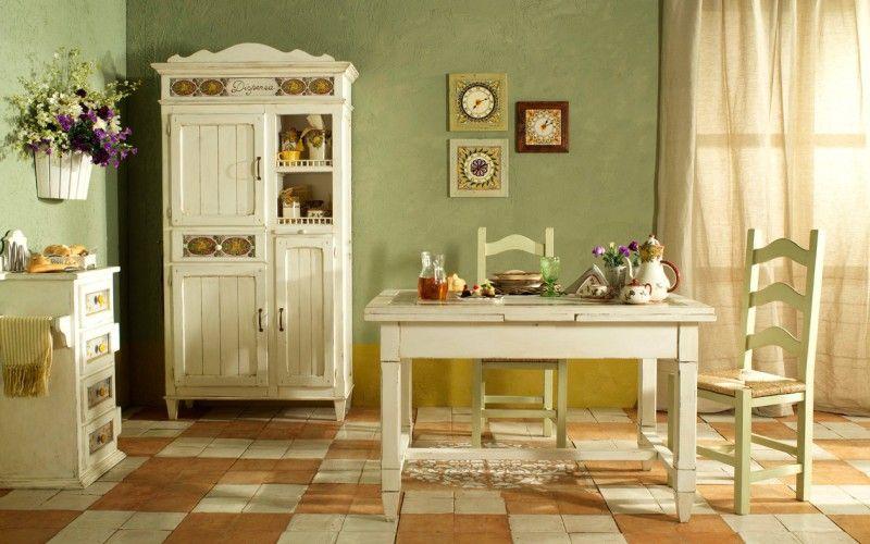 """Деревенская """"грубая"""" мебель на кухне в стиле кантри - то, что нужно"""