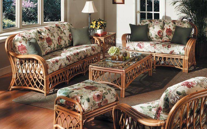 Использование плетеной мебели в интерьере - фото идеи
