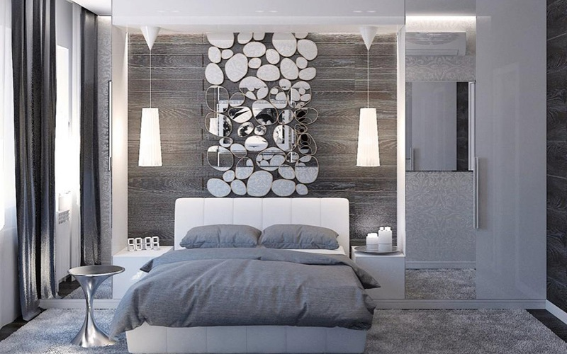 Серая спальня - интересные решения