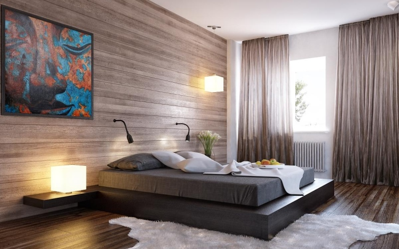 Ламинат на стене - новое в дизайне