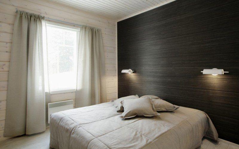 Как выглядит ламинат на стене в современном интерьере