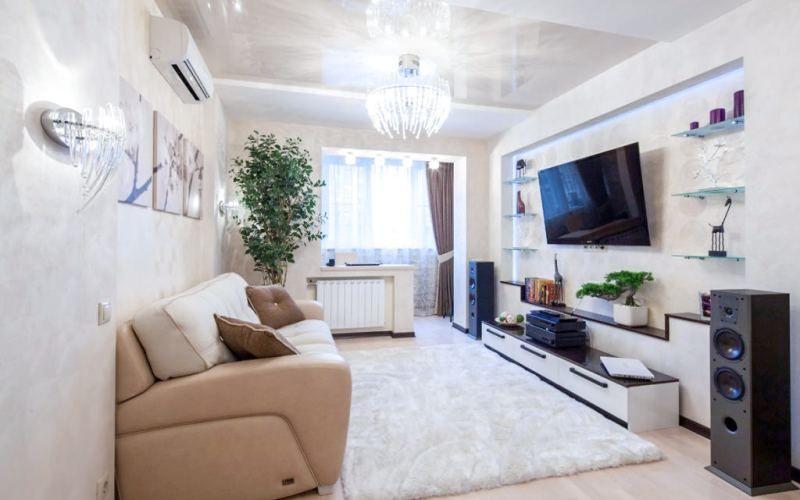 Расширяем пространство маленькой гостиной