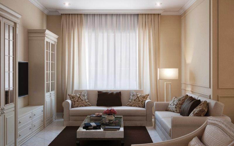 Гостиная в бежевых тонах - Мебель в бежевой гостиной