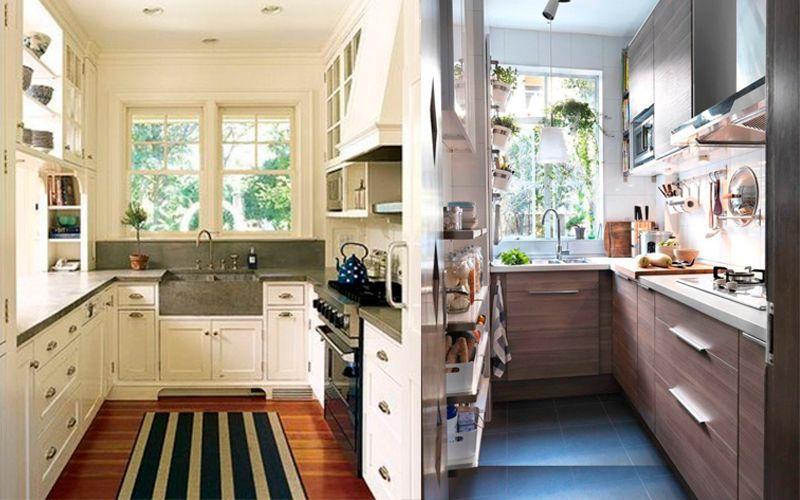 П-образная планировка маленькой кухни