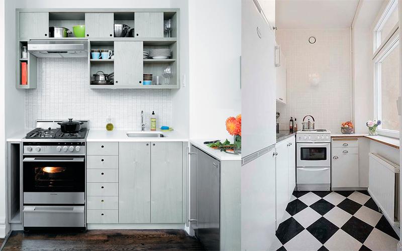 Г-образная планировка на маленькой кухне
