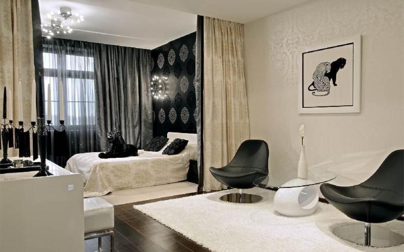 Зонировать комнату на спальню и гостиную - Перегородка