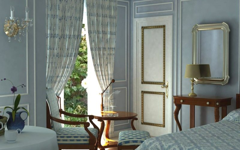 Выбираем цвет для спальни — Голубая спальня
