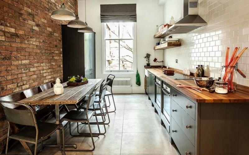 Кухня в стиле лофт - выбор отделки, мебели и аксессуаров