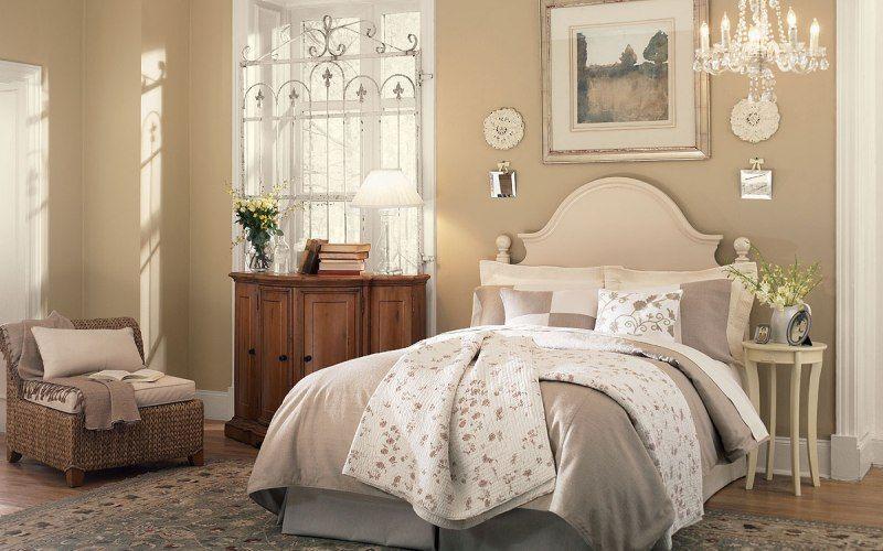 Выбираем цвет для спальни — Спальня в бежево-каоричневых тонах