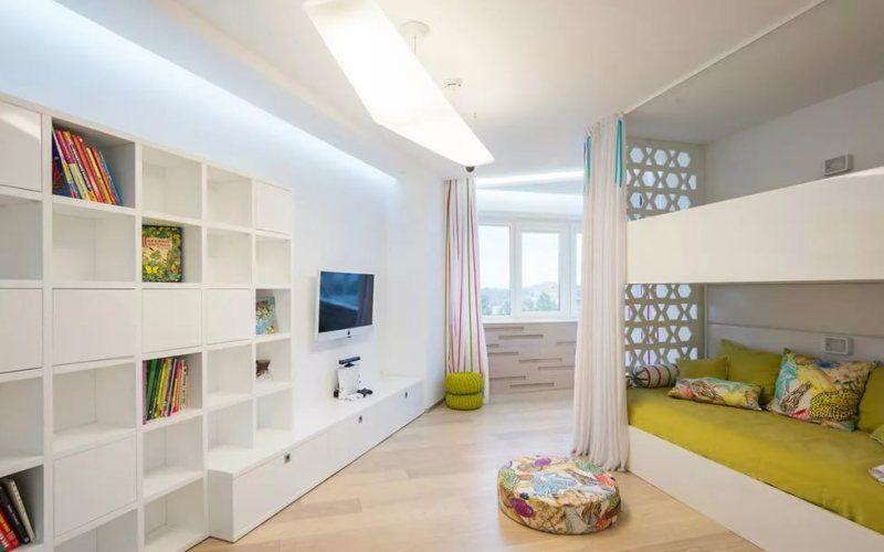 Белая детская комната - красота и универсальность