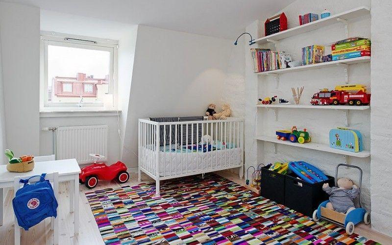 Белая детская комната - Белые стены в детской