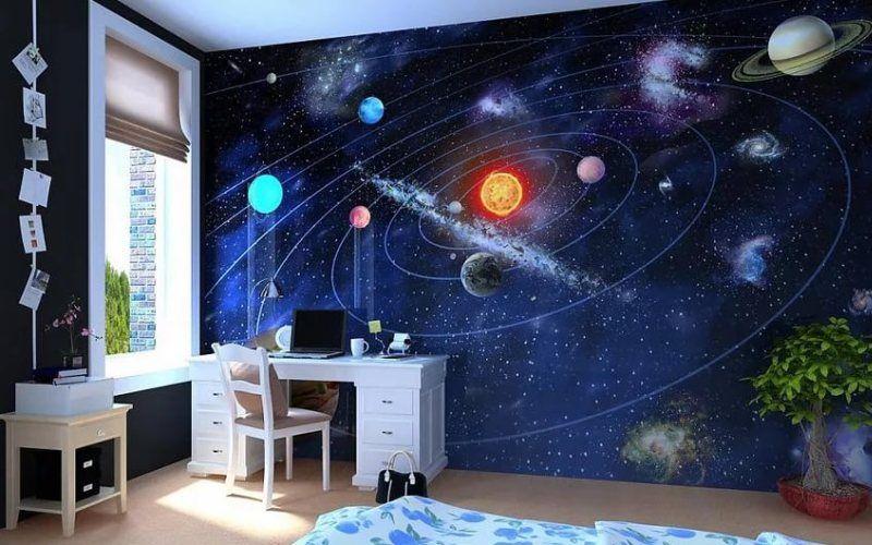 Какую тему для оформления детской комнаты выбрать - Космическая тема