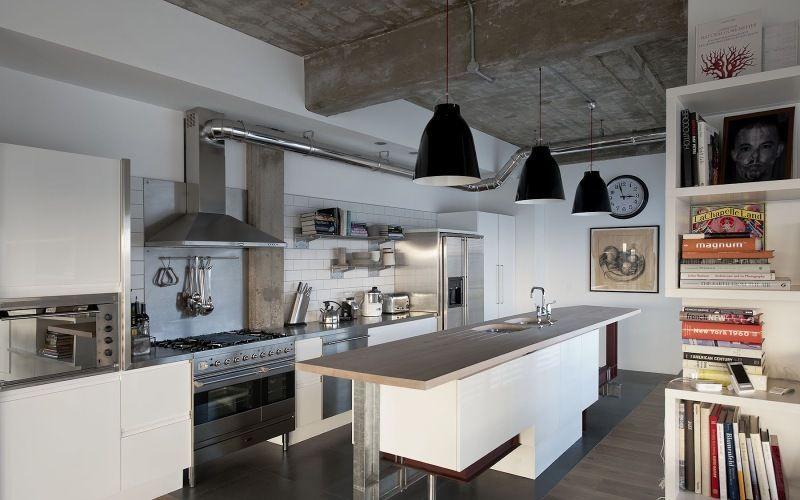 Кухня в стиле лофт - Материалы и отделка кухни