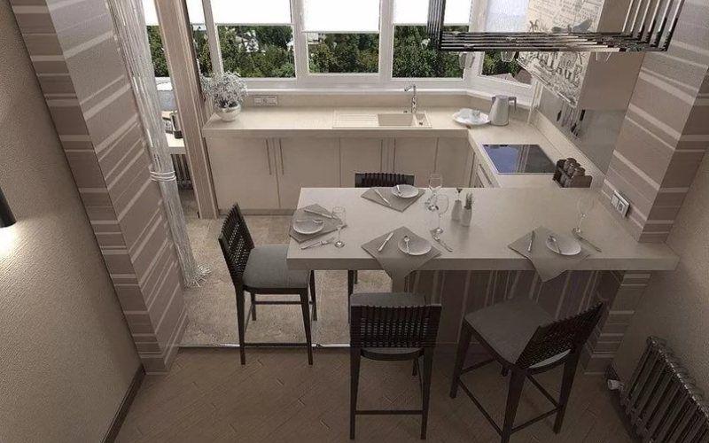 Что расположить на балконе с кухней