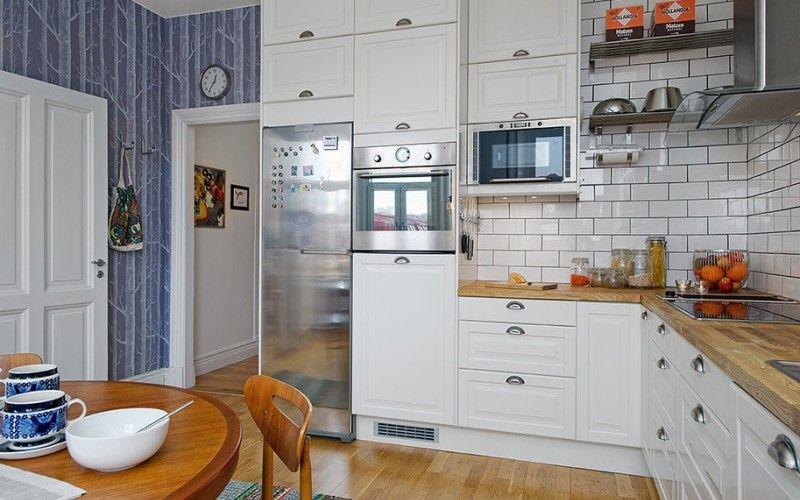 Скандинавские угловые кухни