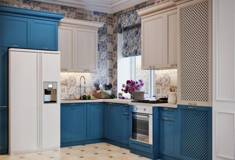 Какой цвет для кухни выбрать в 2018 году - Синий и его оттенки