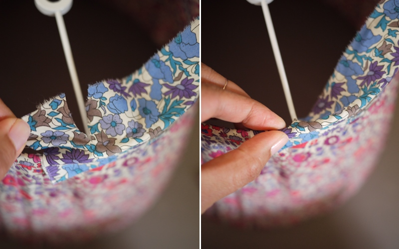 Абажур из лоскутов ткани своими руками