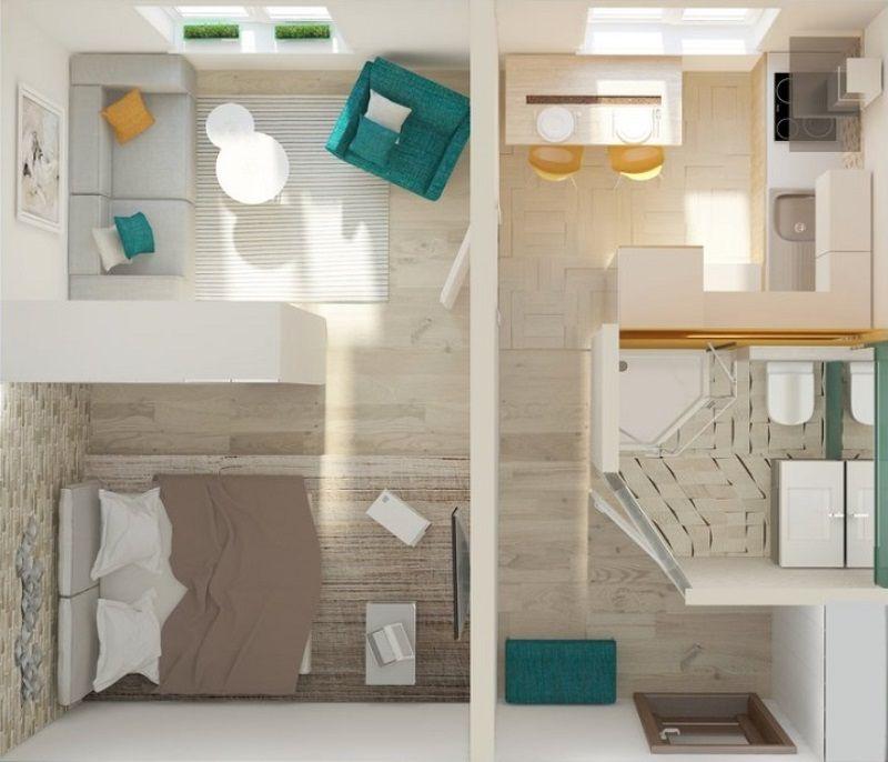 Варианты планировки однокомнатной квартиры для семьи из трех человек