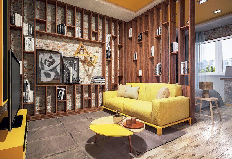 Как зонировать однокомнатную квартиру - Мебель