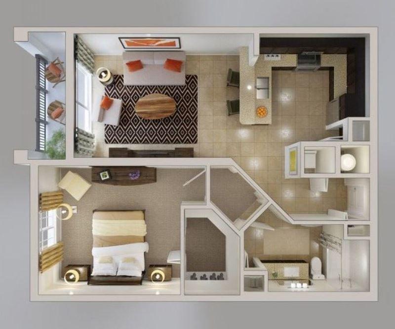 Планировка однокомнатной квартиры с ребенком