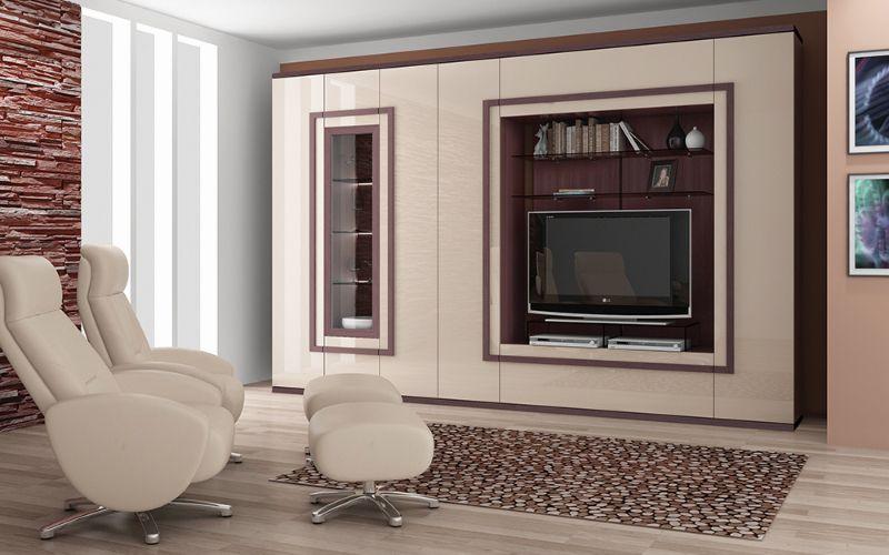 Мебельная стенка для гостиной: фото, материал, варианты расстановки
