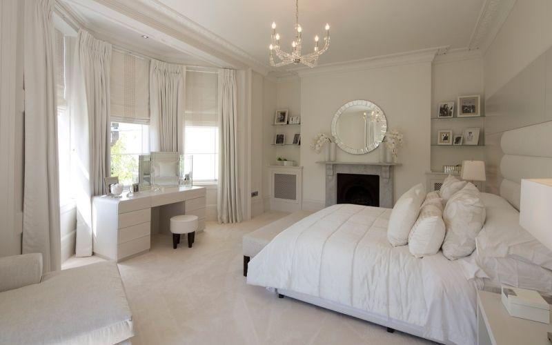 Белая спальня арт-деко