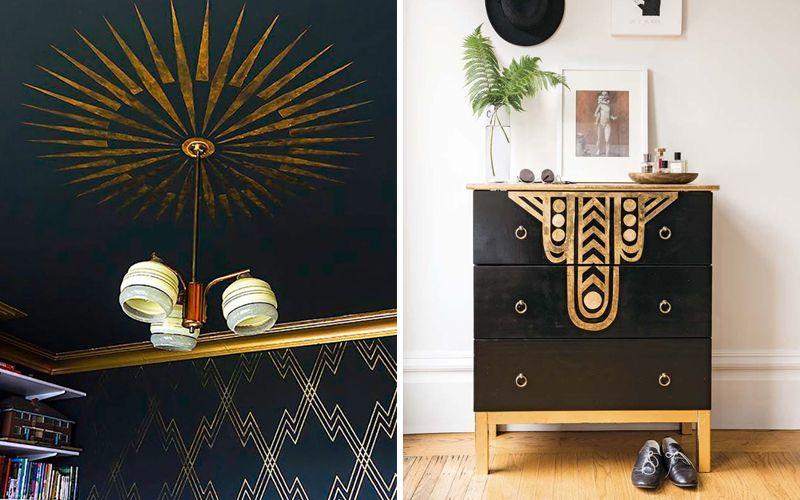 Золотая спальня арт-деко
