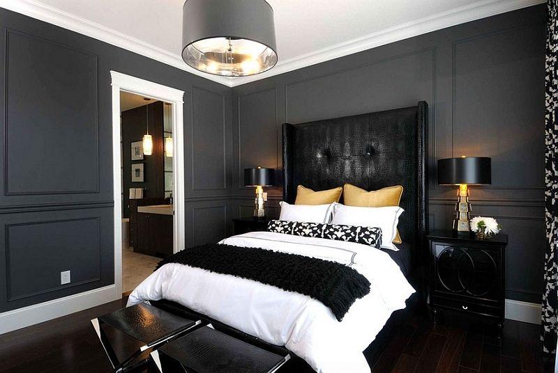 Черная спальня арт деко