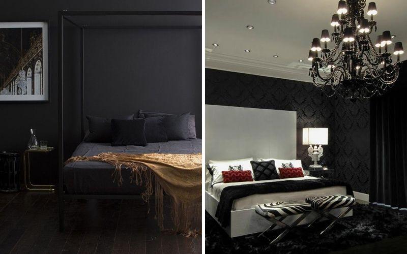 Черная спальня арт-деко