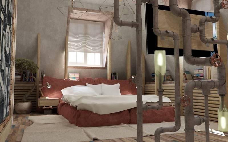 Квартира в Ростове-на-Дону площадью 128 кв.метров в стиле лофт