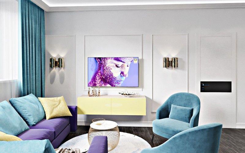 Интерьер в стиле эклектика в квартире 90 кв.метров (ЖК Империал)