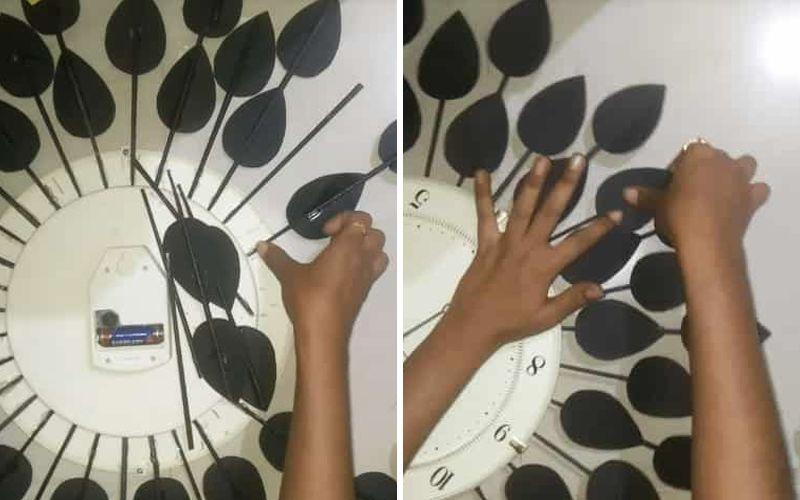 Стильные дизайнерские часы на стену своими руками с газетными трубочками