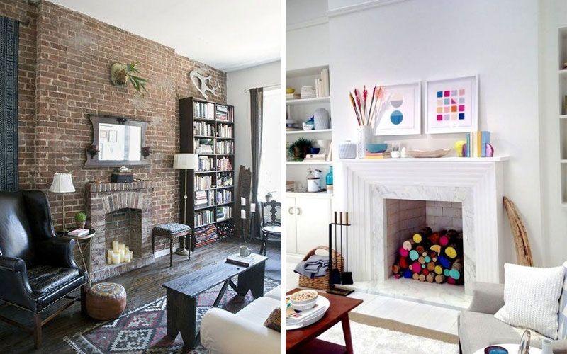 Как оформить камин в квартире - фото