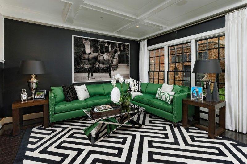 Ковер на пол в гостиную с геометрическим орнаментом