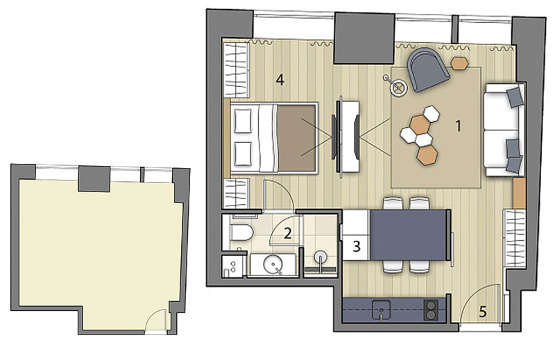 Перепланировка квартиры 40 метров